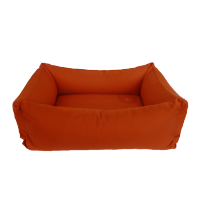Bio Hundebett mit Rand orange